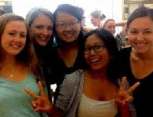 Summer School Closing Ceremony. (L to R: Kristina Jacobsson, Remy Servis, Grace Kim, Yasmine Karma, and Kaitlyn Schaeffer)